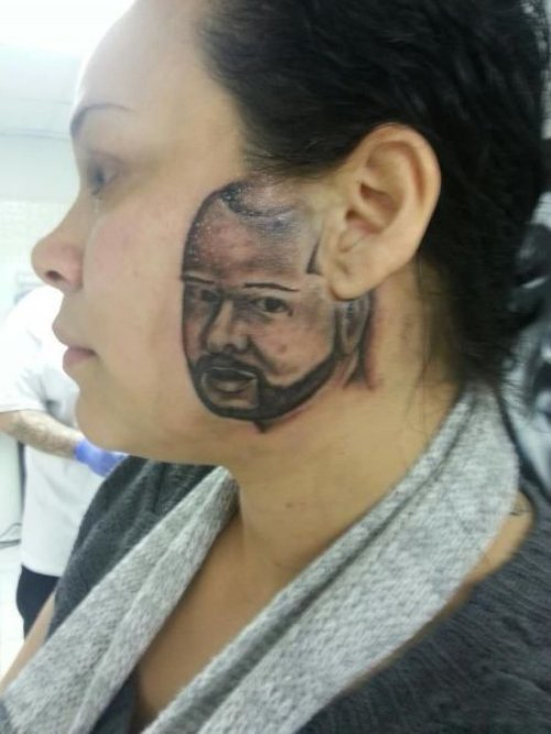 englishsurgeon.com. Photo showing regrettable face tattoo. BCK Patel MD, FRCS, Salt Lake City, St. George