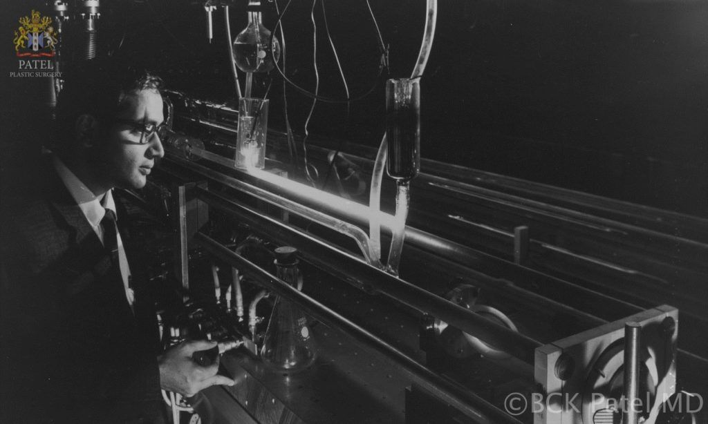 englishsurgeon.com. Prof CK Patel using the early CO2 laser at the Bell Laboratory: inventor of the CO2 laser